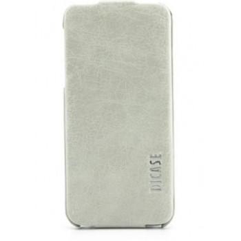 Чехол-флип кожаный Dicase Leather Flip Vintage White для iPhone 5