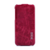 Чехол-флип кожаный DICASE Leather Flip VINTAGE RED для iPhone 5/5S/5SE