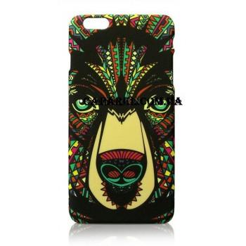 Чехол пластиковый Luxo Funky Animal Aztec Glow In The Dark 3D Медведь для iPhone 5/5S/5SE