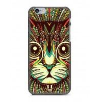 Чехол пластиковый Luxo Funky Animal Aztec Glow In The Dark 3D Cat для iPhone 5/5S/5SE