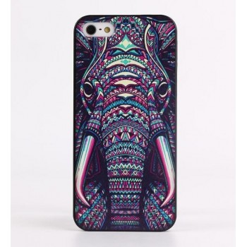 Чехол пластиковый Luxo Funky Animal Aztec Glow In The Dark 3D Слон для iPhone 5/5S/5SE