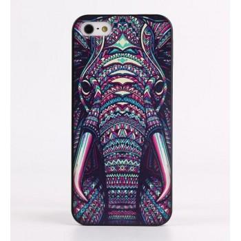 Чехол пластиковый Luxo Funky Animal Aztec Glow In The Dark 3D Слон для iPhone 5/5S/5SE
