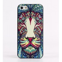 Чехол пластиковый Luxo Funky Animal Aztec Glow In The Dark 3D Лев для iPhone 5/5S/5SE