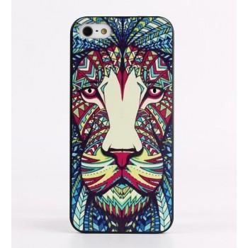 Чехол пластиковый Luxo Funky Animal Aztec Glow In The Dark 3D Лев для iPhone 5/5S/5SE