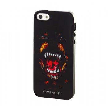 Чехол силиконовый Givenchy Rottweiler Silicone Case для iPhone 5/5S