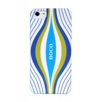Чехол пластиковый HOCO Cool.Moving Protection Case Aurora WHITE для iPhone 5/5S