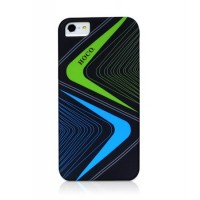 Чехол пластиковый HOCO Cool.Moving Protection Case Lightning BLACK для iPhone 5/5S