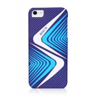 Чехол пластиковый HOCO Cool.Moving Protection Case Lightning BLUE для iPhone 5/5S