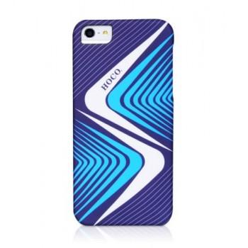 Чехол пластиковый HOCO Cool.Moving Protection Case Lightning BLUE для iPhone 5/5S