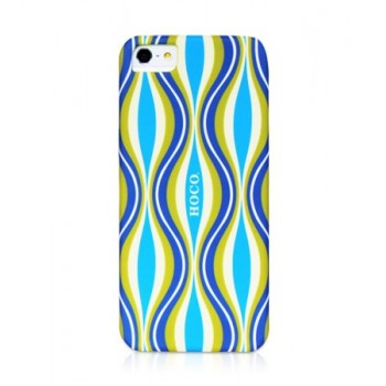 Чехол пластиковый HOCO Cool.Moving Protection Case Melody Motion BLUE для iPhone 5/5S