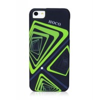 Чехол пластиковый HOCO Cool.Moving Protection Case Time Tunnel BLACK для iPhone 5/5S