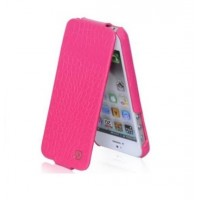 Чехол Hoco Bright Crocodile Flip Leather Сase Pink для iPhone 5/5S/5SE