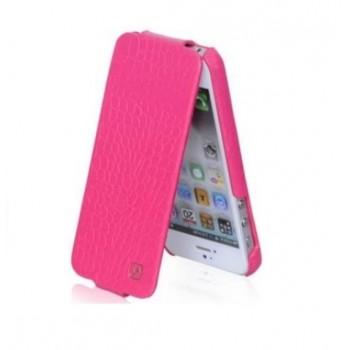 Чехол Hoco Bright Crocodile Flip Leather Сase Pink для iPhone 5/5S/5SE