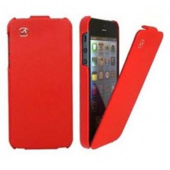 Чехол флип кожаный HOCO Duke Flip Leather Сase Red для iPhone 5/5S/5SE