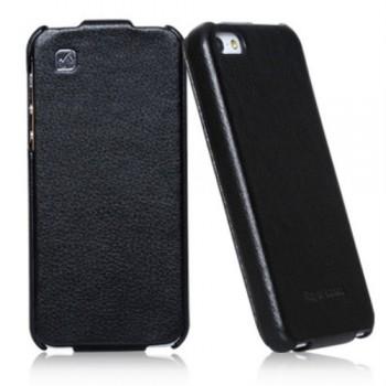 Чехол флип кожаный HOCO Duke Flip Leather Сase Black для iPhone 5/5S/5SE