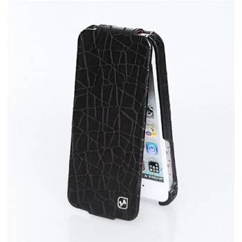Чехол флип кожаный HOCO Knight Flip Leather Case Black для iPhone 5/5S