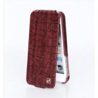 Чехол флип кожаный HOCO Knight Flip Leather Case RED для iPhone 5/5S