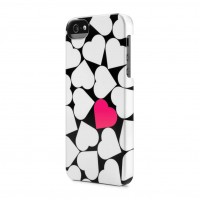 Чехол пластиковый Incase Snap Case Pop Hearts WHITE для iPhone 5/5S