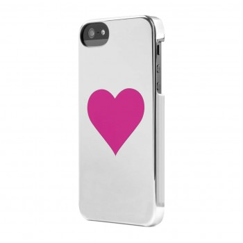Чехол пластиковый Incase Snap Case Single Hearts CHROME/PINK для iPhone 5/5S