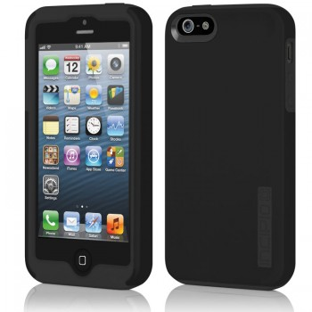 Чехол силиконовый INCIPIO DualPro Hard Shell Case with Silicone Core OBSIDIAN BLACK для iPhone 5
