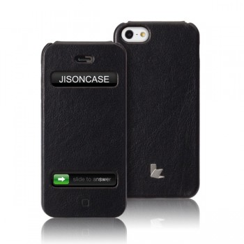 Чехол Jison Case Flip Executive Leather Case BLACK для iPhone 5/5S