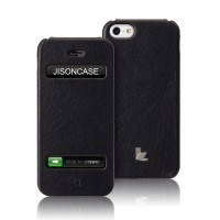 Чехол Jison Case Flip Executive Leather Case BLACK для iPhone 5/5S