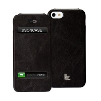 Чехол Jison Case Flip Vintage Leather Case BLACK для iPhone 5/5S