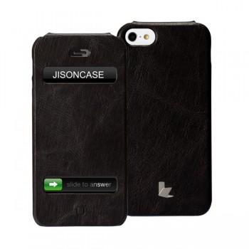 Чехол Jison Case Flip Vintage Leather Case BLACK для iPhone 5/5S