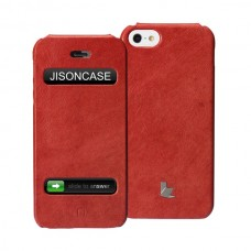 Чехол Jison Case Flip Vintage Leather Case Red для iPhone 5/5S
