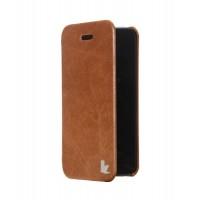 Чехол Jison Case Vintage Folio Case BROWN для iPhone 5/5S