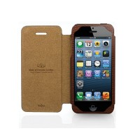 Чехол Kajsa Neo-Classic Collection Lychee Pattern BROWN для iPhone 5/5S