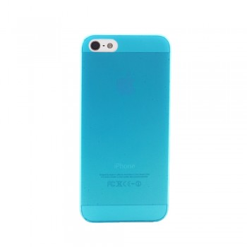 Чехол пластиковый iHappy 0.3 mm Ultra Thin Cover BLUE для iPhone 5/5S