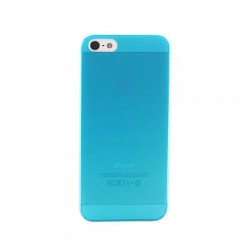 Чехол пластиковый iHappy 0.3 mm Ultra Thin Cover BLUE для iPhone 5/5S