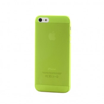 Чехол пластиковый iHappy 0.3 mm Ultra Thin Cover GREEN для iPhone 5/5S