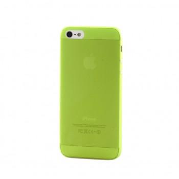 Чехол пластиковый iHappy 0.3 mm Ultra Thin Cover GREEN для iPhone 5/5S
