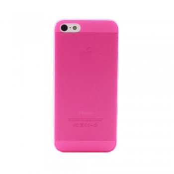 Чехол пластиковый iHappy 0.3 mm Ultra Thin Cover MAGENTA для iPhone 5/5S