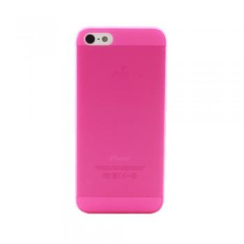 Чехол пластиковый iHappy 0.3 mm Ultra Thin Cover MAGENTA для iPhone 5/5S