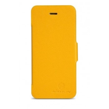 Чехол NILLKIN Fresh Series Leather Case YELLOW для iPhone 5/5S