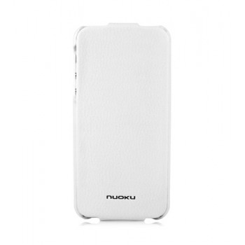 Чехол NUOKU ELITE Series Exclusive Leather Case WHITE для iPhone 5