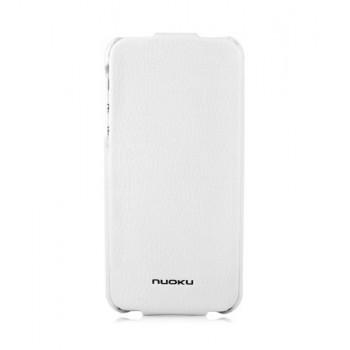 Чехол NUOKU ELITE Series Exclusive Leather Case WHITE для iPhone 5