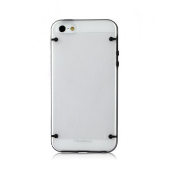 Чехол пластиковый NUOKU JOY Series Dual-tone Soft-touch Cover BLACK для iPhone 5