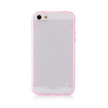 Чехол пластиковый NUOKU JOY Series Dual-tone Soft-touch Cover PINK для iPhone 5