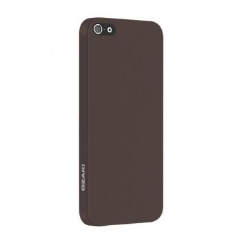 Чехол пластиковый Ozaki O!coat 0.3 Solid BROWN для iPhone 5/5S