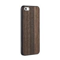 Чехол пластиковый OZAKI O!coat-0.3+Wood EBONY для iPhone 5/5S