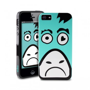 Чехол пластиковый PURO Crazy Zoo Cover COW для iPhone 5/5S