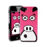 Чехол пластиковый PURO Crazy Zoo Cover PIG для iPhone 5/5S