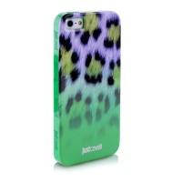 Чехол PURO JUST CAVALLI Macro Leopard GREEN для iPhone 5/5S