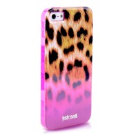 Чехол PURO JUST CAVALLI Macro Leopard PINK для iPhone 5/5S