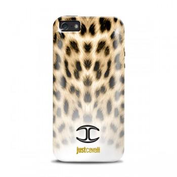 Чехол PURO JUST CAVALLI Micro-Macro Leopard WHITE/BLACK для iPhone 5/5S