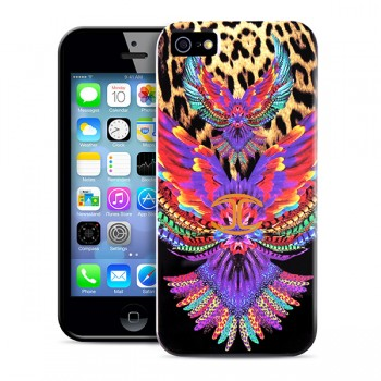 Чехол PURO JUST CAVALLI Wings BLACK для iPhone 5/5S